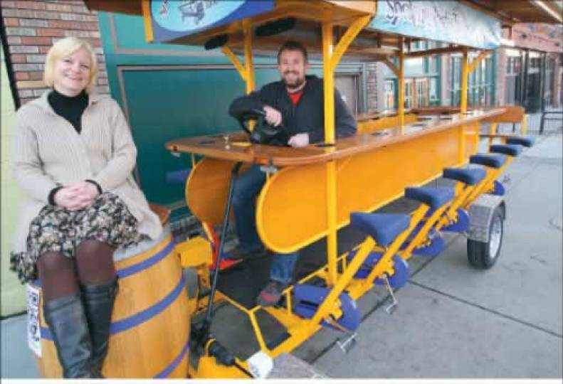 Pedal-party trolley rolls out
