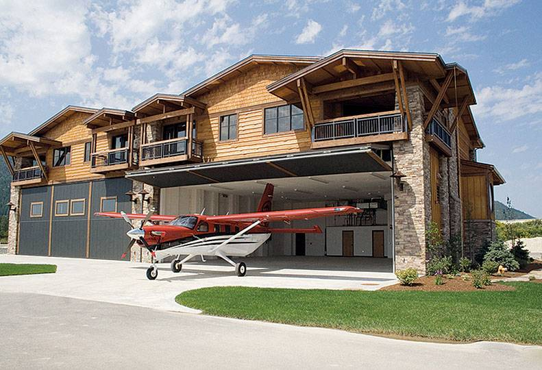 Sandpoint home and airplane hangar development is in for Hangar home plans